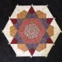 Old Time Kaleidoscope Block - Shiralee stitches design. English paper pieced kit.