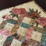 English paper piecing and needleturn applique tablerunner. A Shiralee Stitches Design