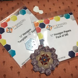 quarter inch hexagon papers and template