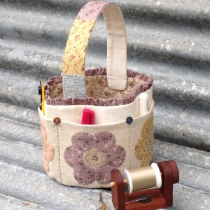 Flower Sewing Basket Pattern