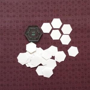 Half inch hexagons