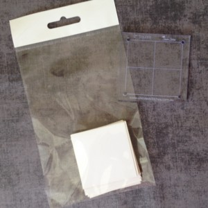 2 inch squaure papers and template