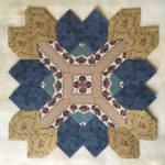 Lucy Boston Block 25. Shiralee Stitches design, English paper Pieced block.