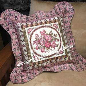 Floral Frames Cushion - Pink