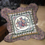 Floral Frames Cushion - Teal