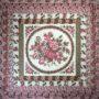 floral frames cushion pink front