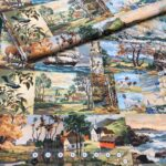 Paint by Number Panel fabric