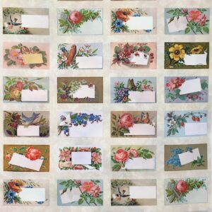 Quilt Labels Panel - small vintage
