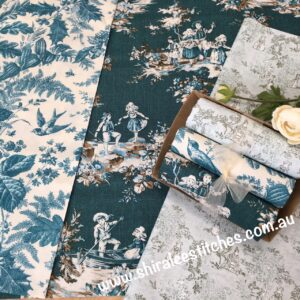 Box of Beauties Toile selection teals
